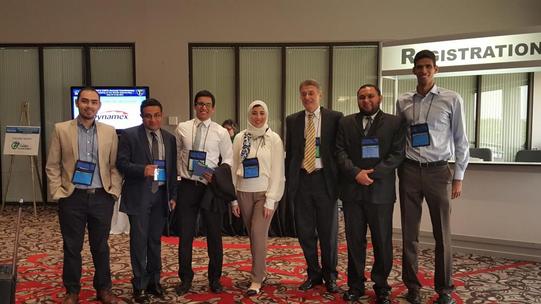 AUC students and professors presented 19 papers at a Canadian construction engineering conference, making them among the top two contributors to the event.