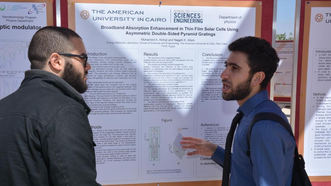 More than 100 students and faculty members presented their research at AUC Research Day