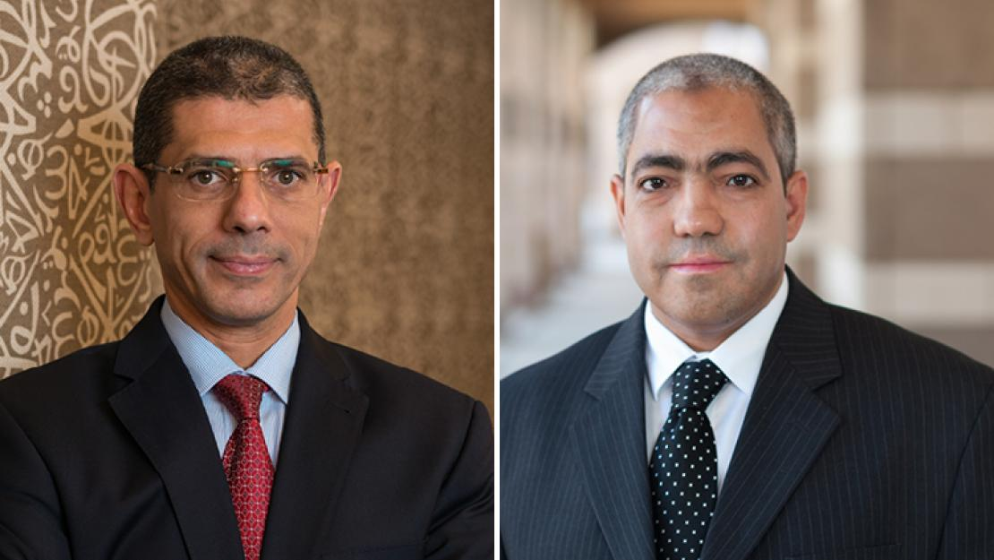 Provost Sherif Sedky and professor Nageh Allam have been awarded the Abdul Hameed Shoman Award for Arab Researchers