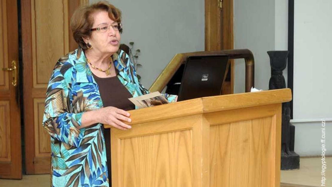 Egyptology Professor Fayza Haikal was recognized for her lifetime contributions to the Egyptology field