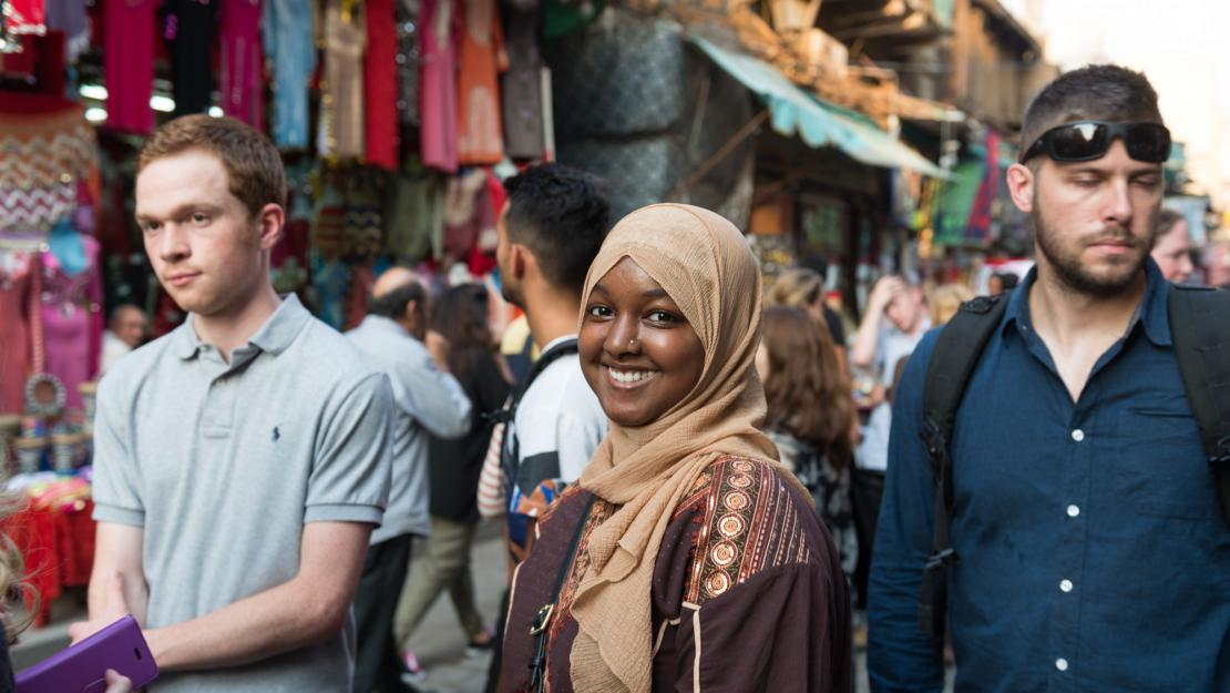 International students tour Cairo as part of their introduction to AUC