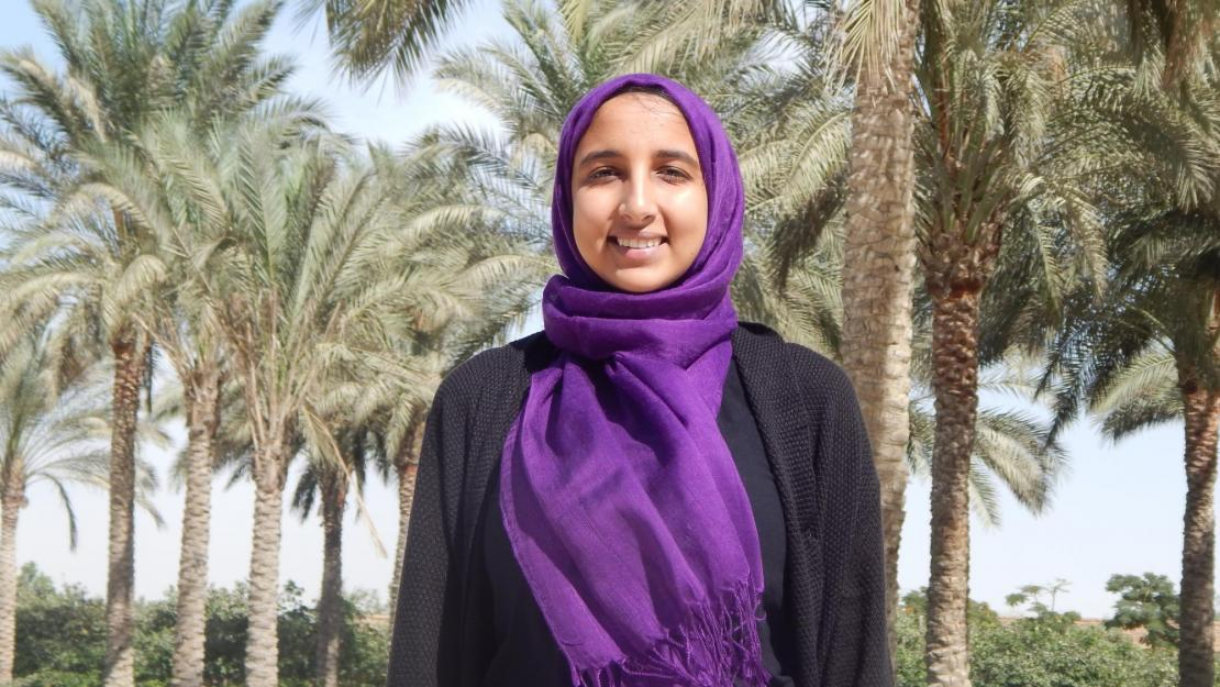 Zeina Mohamed Abdelgamid is a freshman majoring in mechanical engineering and another Al Ghurair STEM Scholar.